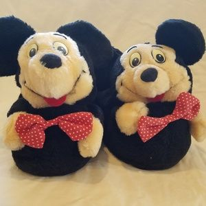 NEW - Vintage 70s Mickey Mouse Slippers